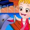 Viaje del delfín del bebé Hazel