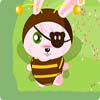 Lindo bebé vestido de conejo